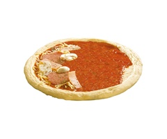 Base de pizza con tomate